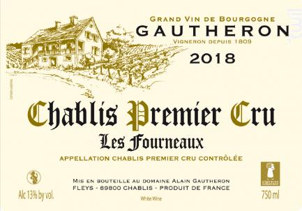 Chablis Premier Cru Les Fourneaux - Domaine Gautheron Alain et Cyril - 2018 - Blanc