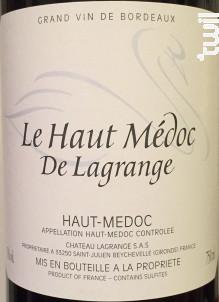 Le Haut Médoc de Lagrange - Château Lagrange - 2015 - Rouge