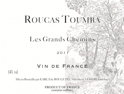 Les Grands Chemins - Roucas Toumba - 2017 - Rouge