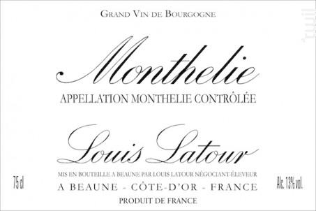 MONTHÉLIE - Maison Louis Latour - 2012 - Rouge