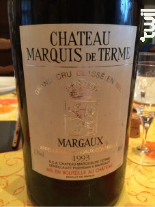 Château Marquis de Terme - Château Marquis de Terme - 1991 - Rouge