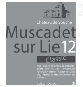 Muscadet sur Lie Classic - Château de Souché - 2012 - Blanc