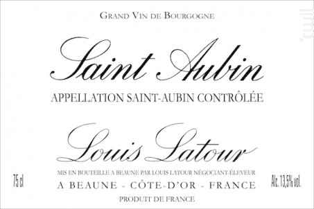 SAINT-AUBIN - Maison Louis Latour - 2007 - Blanc