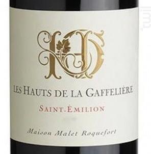 Les Hauts De La Gaffelière - Saint-Emilion - Les Hauts de la Gaffelière - 2012 - Rouge