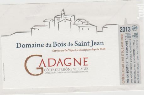 Gadagne - Domaine du Bois de Saint Jean - 2014 - Rouge