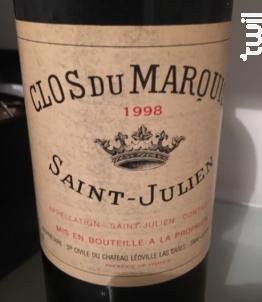 Clos du Marquis - Château Léoville Las Cases - 1998 - Rouge