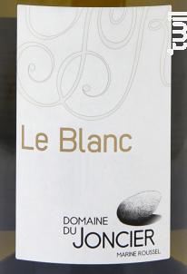 Le Blanc - Domaine du joncier - 2016 - Blanc