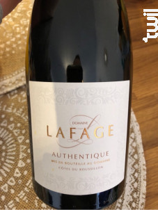Authentique - Domaine Lafage - 2018 - Rouge