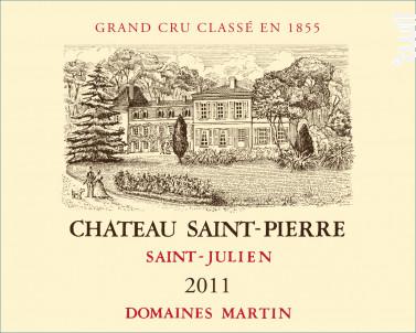 Château Saint-Pierre - Château Saint-Pierre - Domaines Martin - 2011 - Rouge