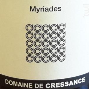Myriades - Domaine de Cressance - 2017 - Blanc