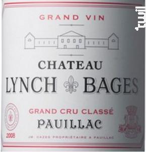 Château Lynch Bages - Château Lynch-Bages - 2018 - Rouge
