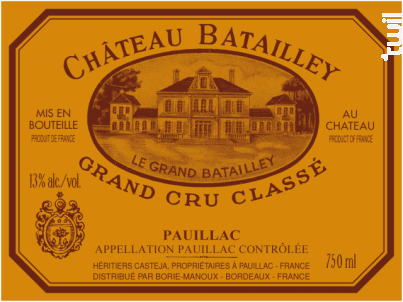 Château Batailley - Château Batailley - 1927 - Rouge