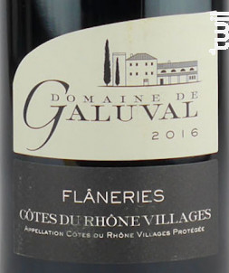 Flâneries - Galuval - 2016 - Rouge