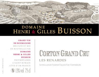 Corton Grand Cru Les Renardes - Domaine Henri & Gilles Buisson - 2015 - Rouge