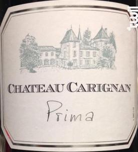 Chateau carignan prima - Château Carignan - 2015 - Rouge