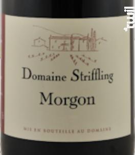 Morgon - Domaine Striffling - 2016 - Rouge