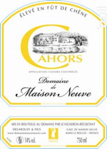 Cuvée Fût de Chêne - Domaine de Maison-Neuve - 2012 - Rouge