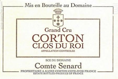 CORTON CLOS DU ROI Grand cru - Comte Senard - 2016 - Rouge