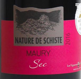 Nature de Schiste - Les Vignerons de Maury - 2017 - Rouge