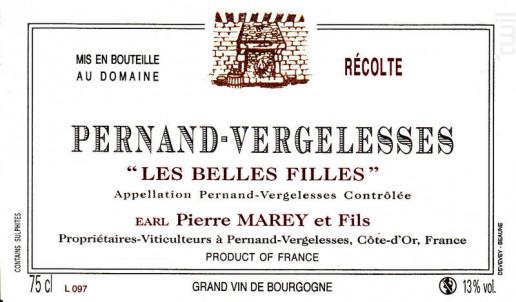 Pernand-Vergelesses Les Belles Filles - Domaine Marey et Fils - 2016 - Rouge