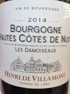 Bourgogne Hautes-Côtes-de-Nuits « Les Damoiseaux » - Henri de Villamont - 2018 - Rouge