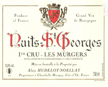 Nuits-Saint-Georges Premier Cru  Les Murgers - Domaine Hudelot-Noëllat - 2016 - Rouge