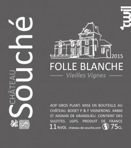 Folle Blanche - Château de Souché - 2015 - Blanc