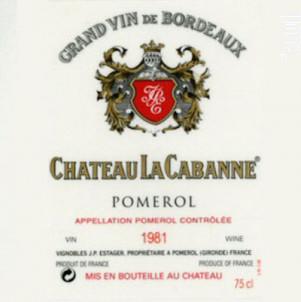 Château la Cabanne - Château La Cabanne - 2018 - Rouge