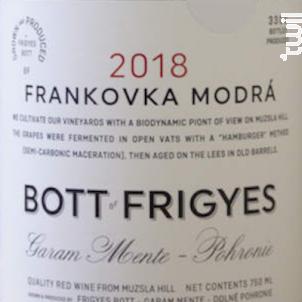 Frankovka Modra - Bott Frigyes - 2018 - Rouge
