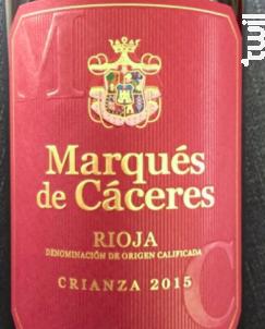 Marqués de Cáceres Crianza - Bodegas Marqués de Cáceres - 2015 - Rouge