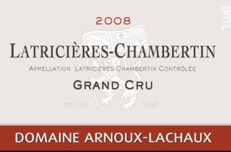Latricières - Chambertin - Domaine Arnoux-Lachaux - 2008 - Rouge