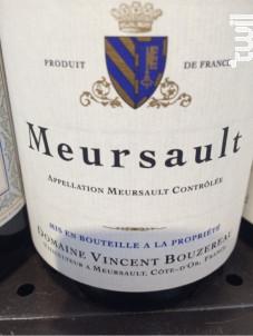 Meursault - Domaine Vincent Bouzereau - 2015 - Blanc