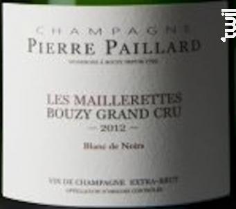 Les maillerettes - Champagne Pierre Paillard - 2014 - Effervescent