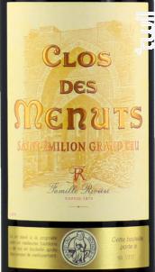 Clos des Menuts - Clos des Menuts - 2013 - Rouge