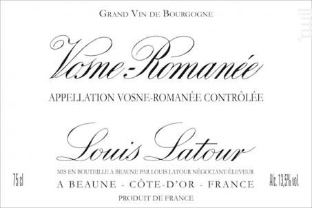 Vosne-Romanée - Maison Louis Latour - 2014 - Rouge