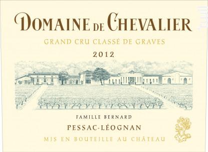 Domaine de Chevalier - Domaine de Chevalier - 2012 - Blanc