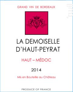 La Demoiselle d'Haut Peyrat - Château Peyrat-Fourthon - 2014 - Rouge