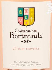 Château des Bertrands - Château des Bertrands - 2019 - Rosé