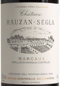 Château Rauzan-Ségla - Château Rauzan-Ségla - 2007 - Rouge