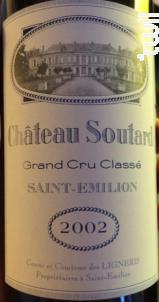 Château Soutard - Château Soutard - 2002 - Rouge