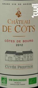 Chateau de Côts Cuvée Prestige - Château de Côts - 2014 - Rouge
