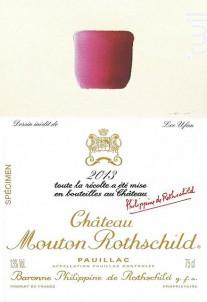 Château Mouton Rothschild - Château Mouton Rothschild - 2013 - Rouge