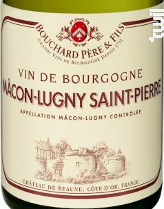 Mâcon-lugny Saint Pierre - Bouchard Père & Fils - 2018 - Blanc