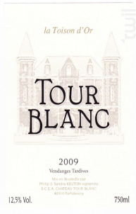 La toison d'or - Château Tour Blanc - 2009 - Blanc