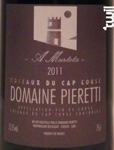 A murteta - Domaine Pieretti - 2017 - Rouge