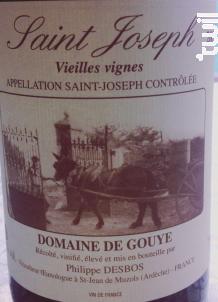 Saint Joseph - Vieilles Vignes - Domaine de Gouye - 2016 - Rouge