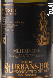 Mehringer Riesling Spätlese Feinherb - Sankt Urbans-Hof - 2008 - Blanc