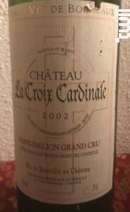 Château La Croix Cardinale - Château La Croix Cardinale - 2003 - Rouge