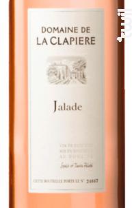 Jalade - DOMAINE DE LA CLAPIERE - 2017 - Rosé