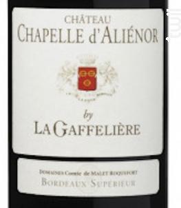 Château Chapelle d'Aliénor - Château Chapelle D'Aliénor - 2014 - Rouge